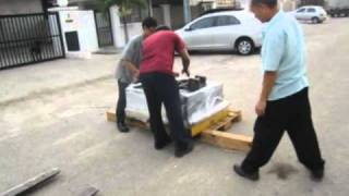 SEKO Forklift Scale crash into pallet loaded with Iron Weights