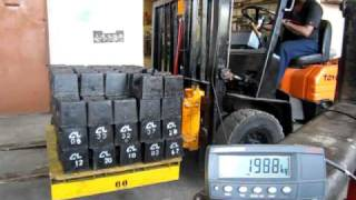 SEKO Forklift Scale weigh during lift